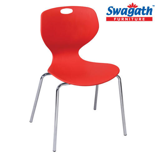 Plastic Chairs With Metal Legs - Bloom Chair Exporter from Kolkata
