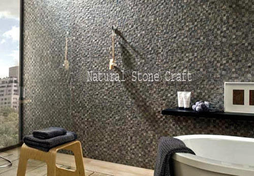Natural Stone Decorative Interior Wall Tile, Thickness: 15 20 Mm