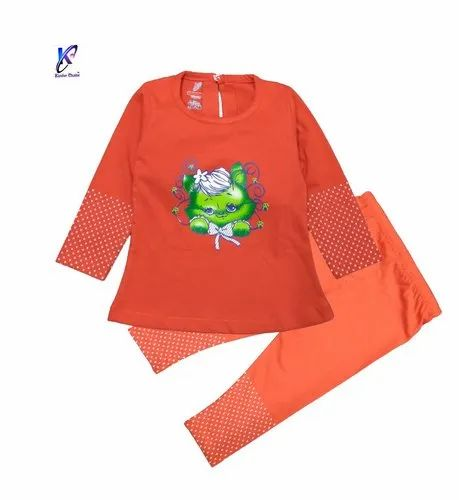 Stylish Kitty Full Sleeve Top With Full Pant