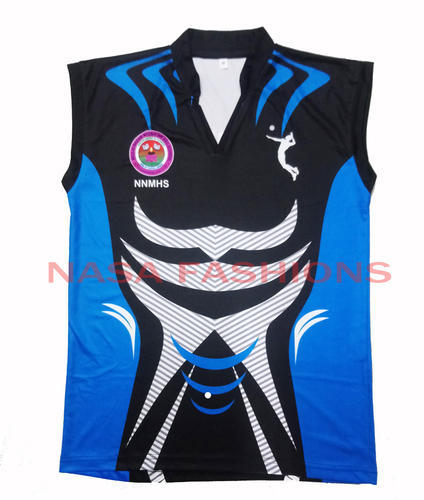 b244c19160e Polyester Sleeveless Volley Ball Jersey