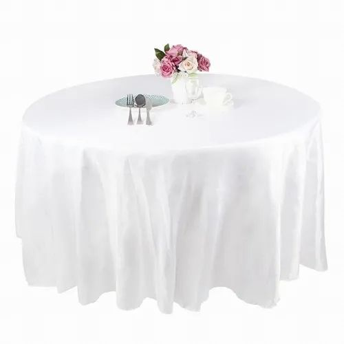 Cotton Round White table cover