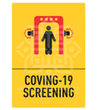 Yellow Covid-19 Screening Signages