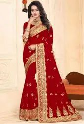 Amazing Red Bridal Saree