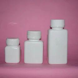 Square Plastic Tablet Bottle