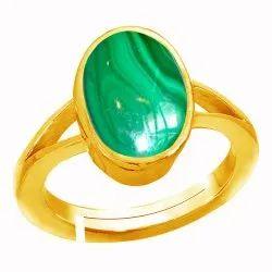Malachite Ring Panchdhatu Gemstone