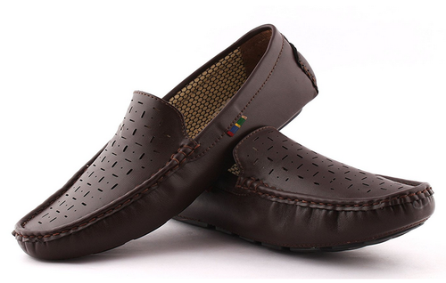 cda805e9b98 Leather Men Brown Driving Casual Loafers Shoes