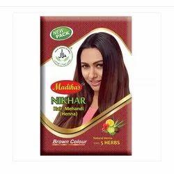 Brown Color Nikhar Henna Hair Mehndi, Packaging Type: Packet, Packaging Size: 40 Gram
