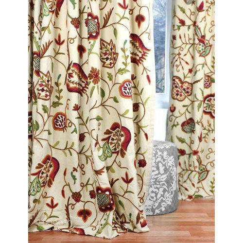 Kashmir Vintage Traditional Jacobean Crewel Curtain Panel