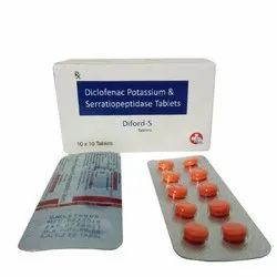 Diclofenac Potassium 50 mg Serratiopeptidase 10 mg Tablets