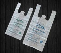 White Biodegradable Compostable Carry Bags