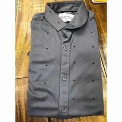 Casual Wear Cotton Mens Dotted Shirt