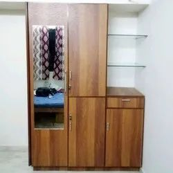 Wooden Stylish Bedroom Wardrobe, Size/Dimension: 7 To 8 Feet (height)