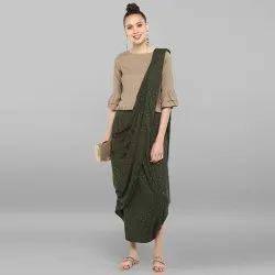 Rayon Flex Dhoti Style Saree With Blouse(SET128)
