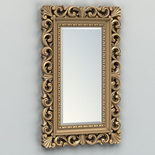 Rectangle And Bone Inlay Designer Mirror Frame