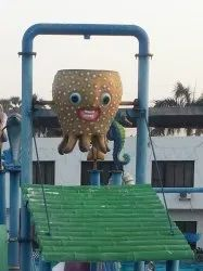 Tilting Bucket Octopus in Water Park