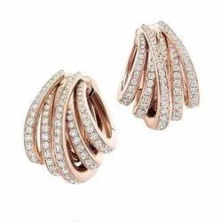 D-star Jewellery Round Diamond Earrings