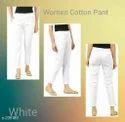Ladies Cotton White Pant