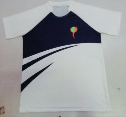 A2iind Polyester Purple White Corporate T Shirt