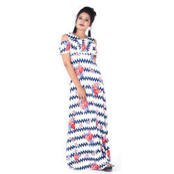 Cotton And Lycra Casual Wear Ladies Printed Gown b2b7e26f0