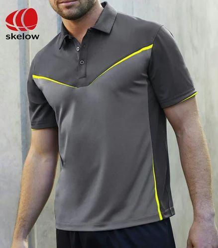 1ef56749166ce Men  s Designer Collar Grey T-Shirts