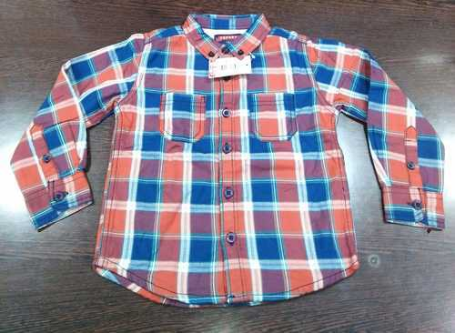 Cotton Striped Branded Boys Shirt
