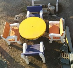 Cement & concrete Precast Dining Table Set