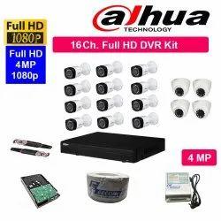FEECOM DAHUA Full HD 4MP Cameras Combo KIT 16CH HD DVR 12BULLET Cameras 4 Dome Cameras 2TB Hard D