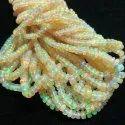 AAA Yellow Ethiopian Opal Smooth Rondelle Beads Strand
