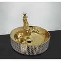 Golden and Silver Ceramic Art Basin