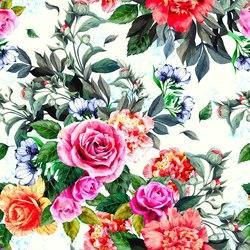Polyester Satin Digital Printed Floral Design Fabric, Use: Garments