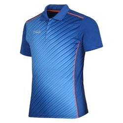 Half Sleeves Printed Men's Sports Collar T-Shirt