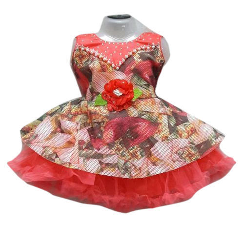18612a985b95 Party Wear Printed Baby Girl Floral Frocks, Size: 16 To 20 Inch, Rs ...
