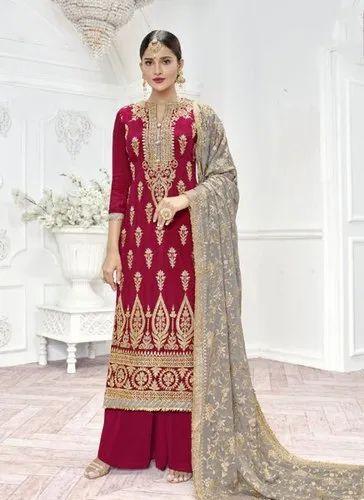 c220113ba0 Chinnon Upada Silk Wedding Special Palazzo Suits, Rs 1845 /piece ...