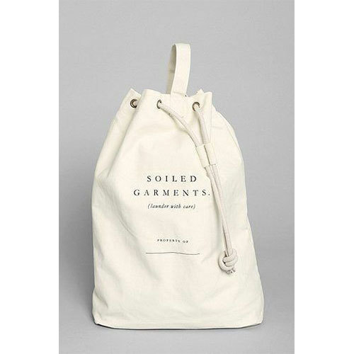 Off White Canvas Laundry Bag