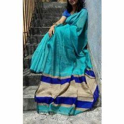 Ladies Trendy Handloom Saree, Length: 6.25 meter