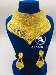 Gold Plated Bridal Chokker Jewellery