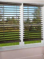 High Tech Brown Wooden Venetian Window Blind