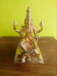 Golden Ashtalakshmi 9 Inches Panchaloham 8 Lakshmi