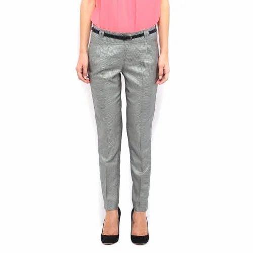 8ecb823b2e0 Plain Grey Women Trouser