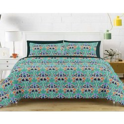 Flower Printed Double Bed Sheet
