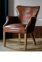 Vintage Brown Leather Arm Chair