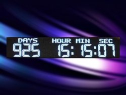Large Countdown Days Clock