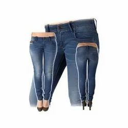 Regular Stretchable Ladies Wear Jeans, Packaging Type: Packet