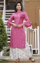 Cotton Ladies Sharara, Size: M To Xxl