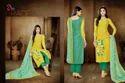 Round Neck Malhar Salwar Suit Fabric