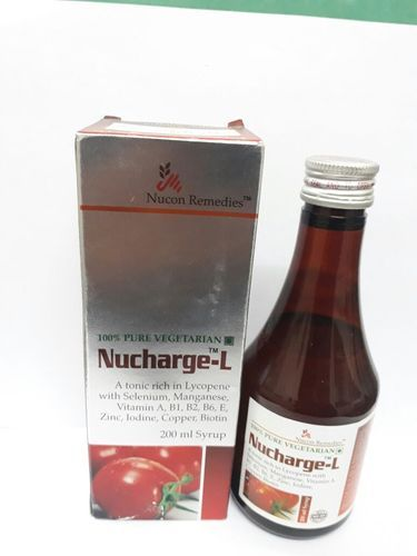 Feed Grade Lycopene With Multivitamin Multimineral Syrup, Packaging Size: 200 mL, for Personal