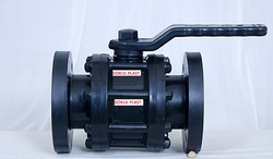 Gokul PP Three Piece Flange End Ball Valve, Size: 25 to 200mm, Model: 3 Pice