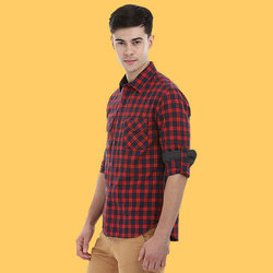 Mens Denim Blue Casual Shirts, Size: S - XL