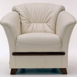 White Single Seater Sofa