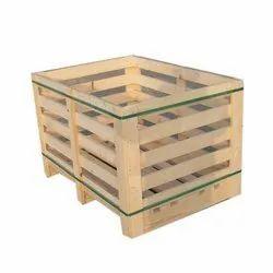 Rectangular Wooden Packaging Pallet Box